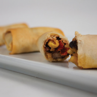 Black Bean and Sharp Cheddar Spring Roll