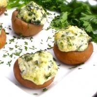 Boursin & Spinach Stuffed Mushroom***Temporarily out of stock***