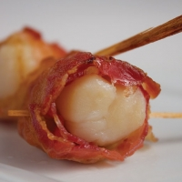 Scallops & Par Cooked Bacon - Premium