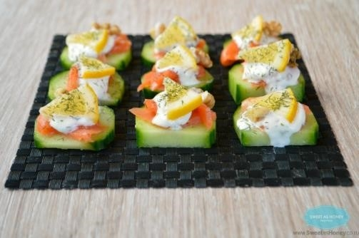 Smoked Salmon and Cucumber Apps