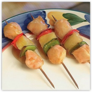Chicken Kabob with Pineapple