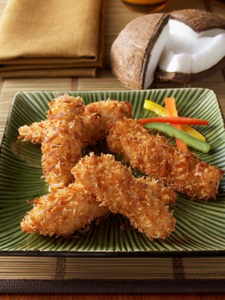 Coconut Chicken Tenders for Party | Baked Coconut Chicken ...