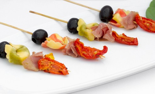 Antipasto Kabob with Prosciutto