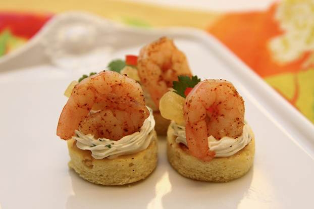 Island shrimp canapes baked frozen shrimp appetizers for What is a canape appetizer
