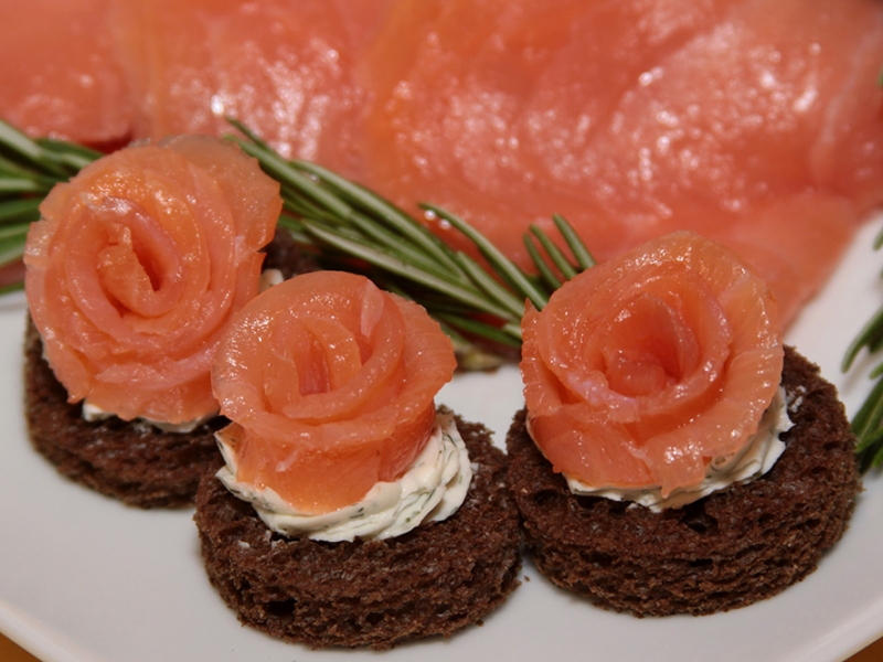 buy smoked salmon roses smoked salmon appetizers in bulk by appetizersusa. Black Bedroom Furniture Sets. Home Design Ideas