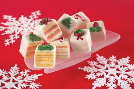 Holiday White Petit Fours