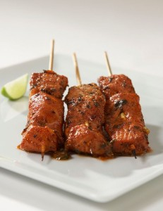 Chili Lime Salmon Satay