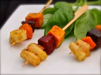 Root Vegetable Kabob