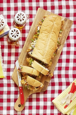 Https://www.countryliving.com /food Drinks/recipes/a42427/chicken Finger Sub Cabbage Slaw Recipe/