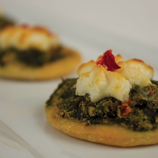 spinach goatcheese flatbread